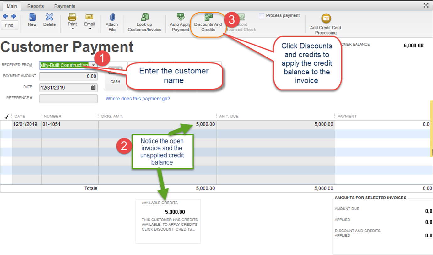Clearing Zero Balances In QuickBooks Accounts Receivable Aging - Quickbooks invoice accounts receivable