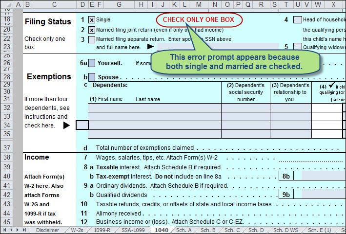 Use Excel to File Your 2014 Form 1040 and Related Schedules – 2014 Tax Computation Worksheet