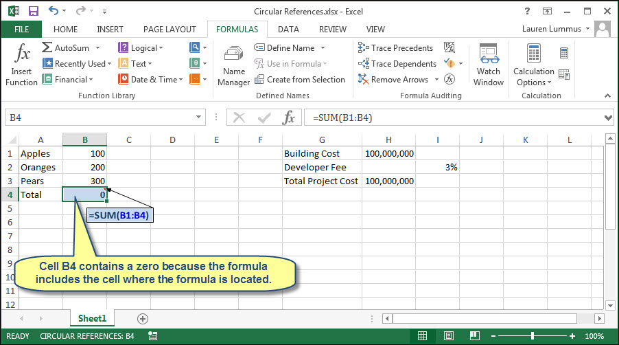 How To Use Circular References In Excel Accountingweb