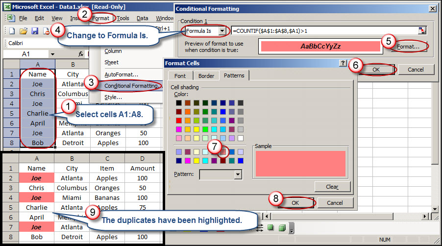 highlight duplicates in excel  Learn How to Highlight Rows in Excel Based on Duplicates | AccountingWEB