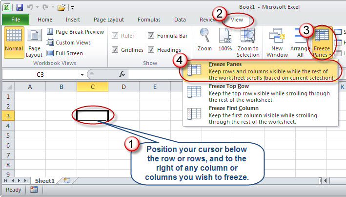 Microsoft Excel Taking The Pain Out Of Freezing Panes