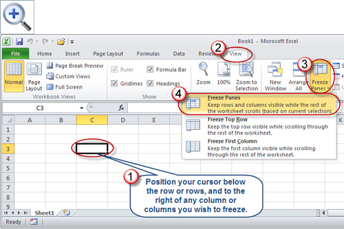 Microsoft Excel: Taking the Pain Out of Freezing Panes