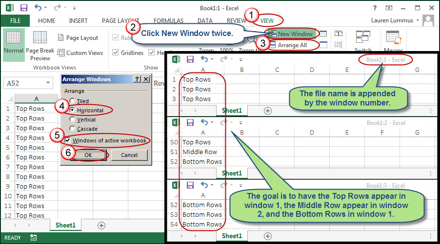 Freezing A Middle Row In Excel While Scrolling Abovebelow. Freezing A Middle Row In Excel While Scrolling Abovebelow Accountingweb. Worksheet. Above Below Worksheets At Clickcart.co