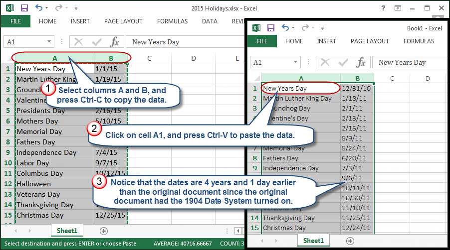 When Excel Dates Mysteriously Shift by 4 Years | AccountingWEB