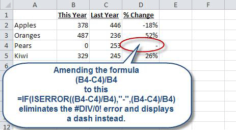 Trapping Errors within Excel Formulas | AccountingWEB