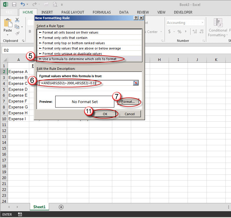 how to turn excel cell into colour