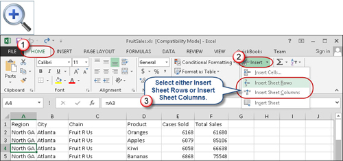 Worksheets How To Add Worksheet In Excel quick tips for inserting excel rows and columns accountingweb 2007 later as shown in figure 1 on the home tab choose insert then sheet or columns