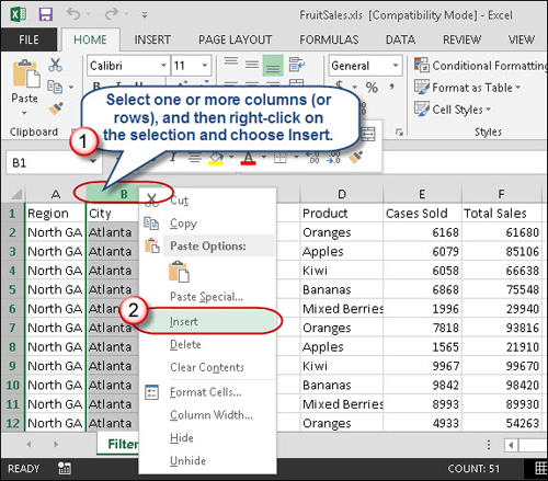 Quick Tips for Inserting Excel Rows and Columns – Insert New Worksheet in Excel