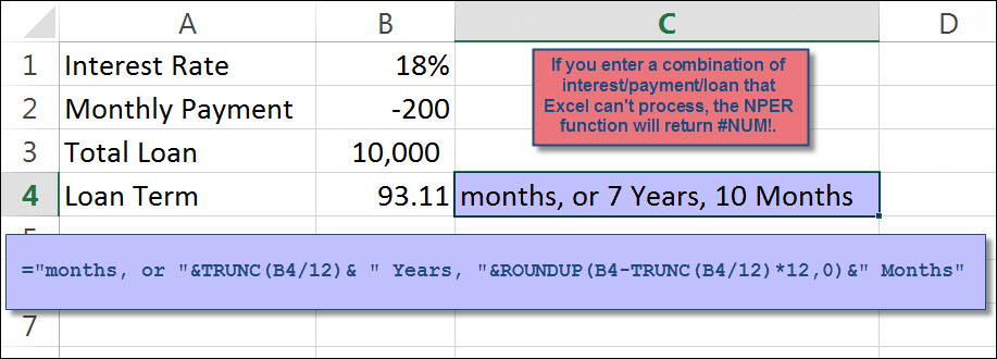 calculate time to pay off loan