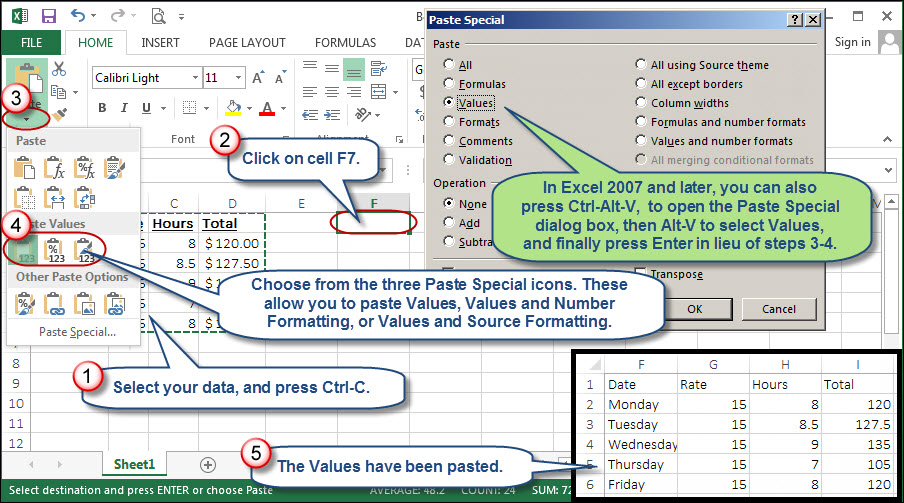 Streamlining Excel's Paste Special Values Feature | AccountingWEB