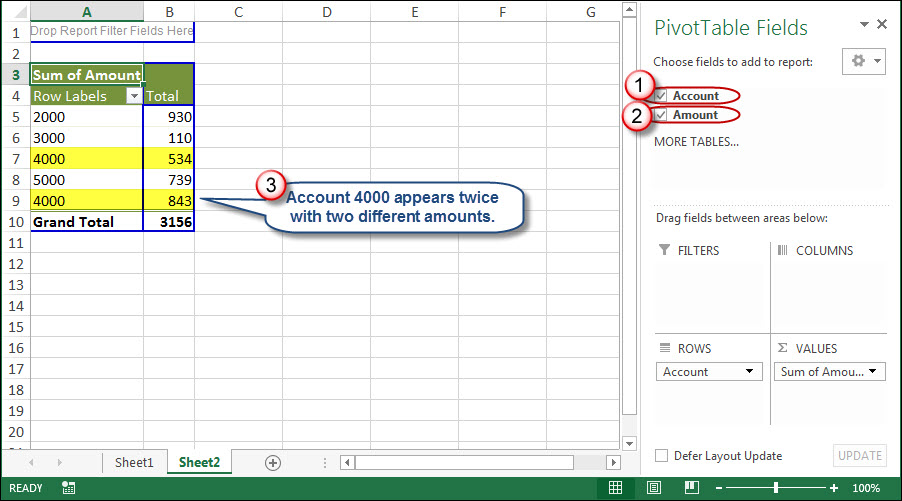 How to Resolve Duplicate Data within Excel Pivot Tables | AccountingWEB