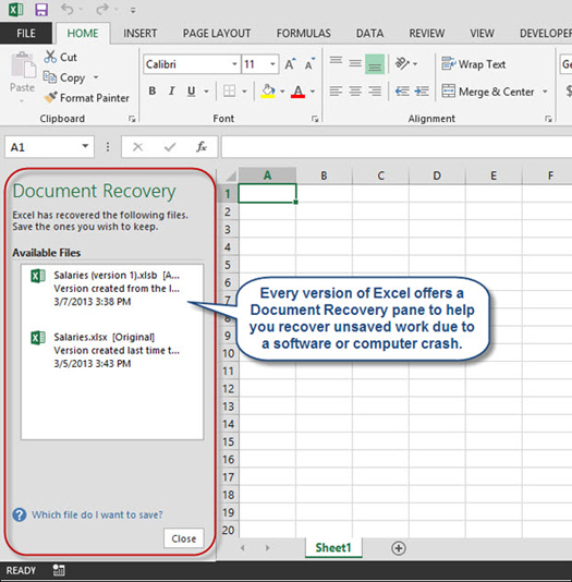 Recovering Unsaved Excel Workbooks Accountingweb