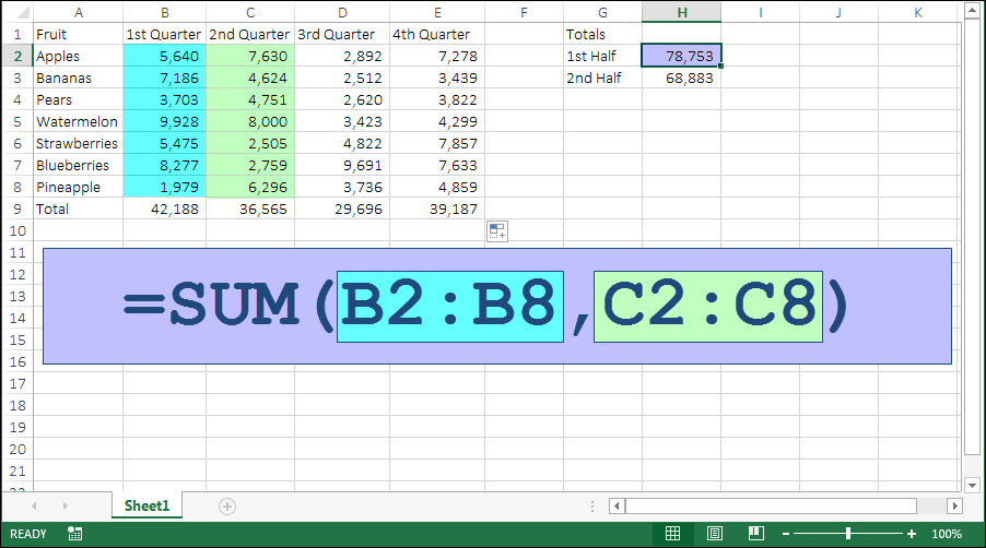 Formula To Calculate Sum Of Cells In Excel How To Add