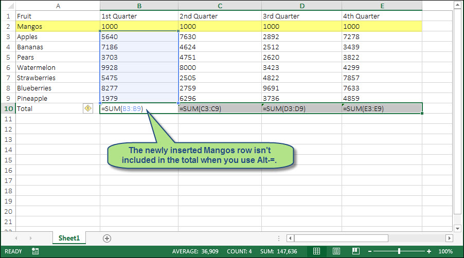 how to make cells automatically add up in excel