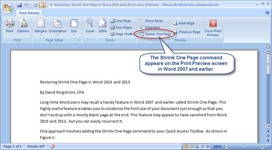 restoring shrink one page in word 2010 and 2013 accountingweb