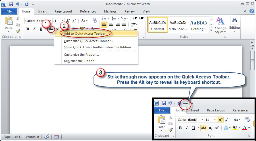 The Curious Case of Strikethrough in Word and Excel