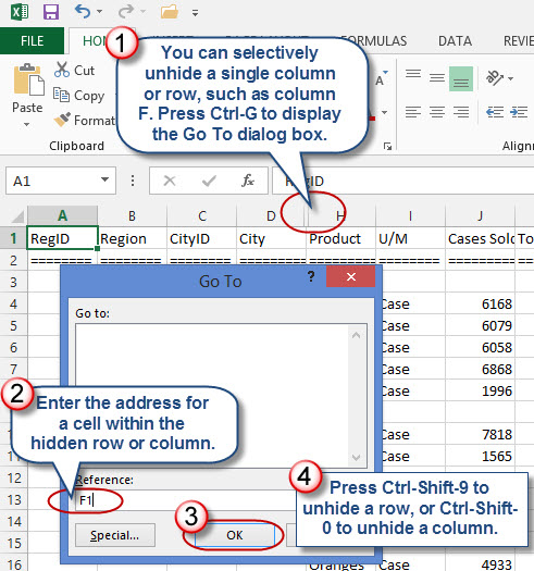 Tricks For Hiding And Unhiding Excel Rows And Columns