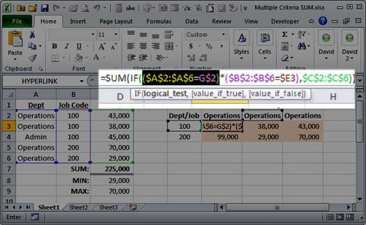 array function excel
