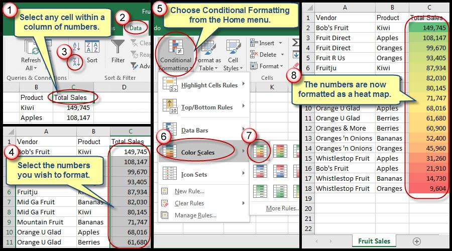 How to \'Heat Map\' Columns of Numbers in Excel | AccountingWEB