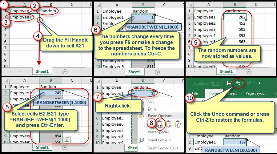 Using an Excel Pivot Table to Assign Random Numbers