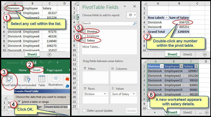 Two Ways to Disable Excel's Pivot Table Drill-Down Feature