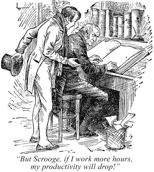 scrooge worker productivity