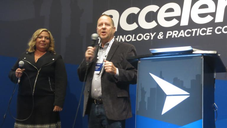 Mike Giardina and Alessandra Lezama at Accelerate 2017
