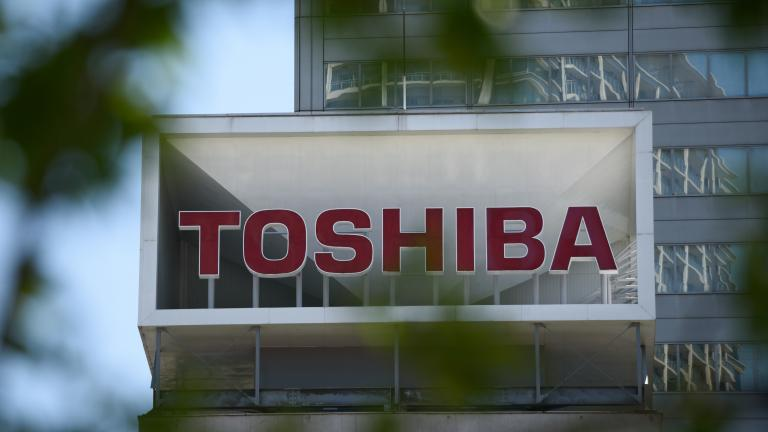 Toshiba sign