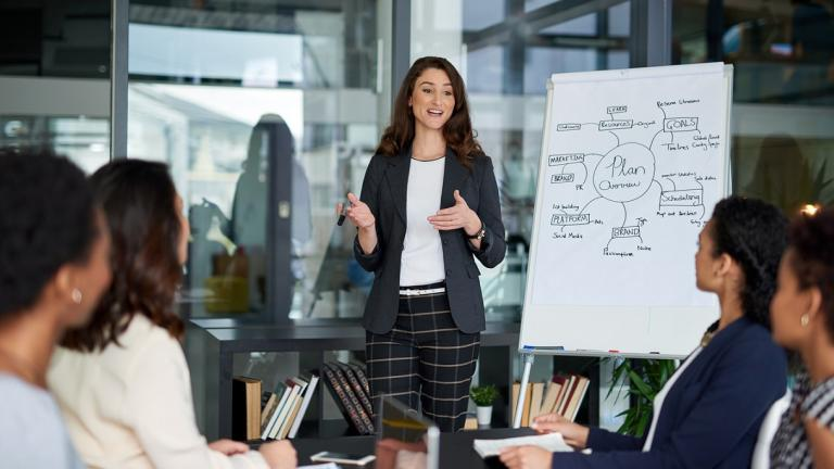 woman hosting a planning meeting