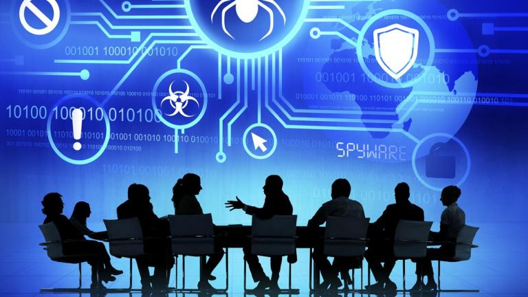 group meeting over cyber security