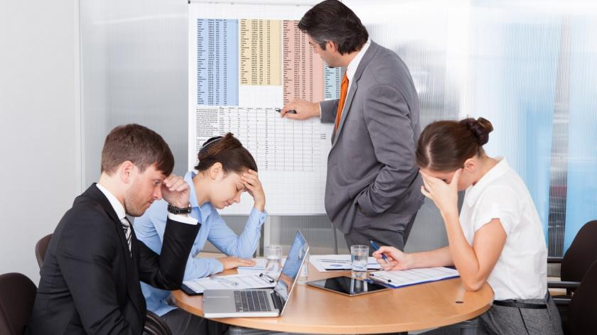 frustrated people in planning meeting