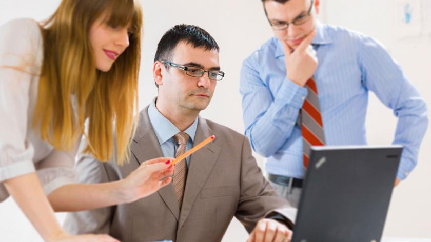 people working together in an office