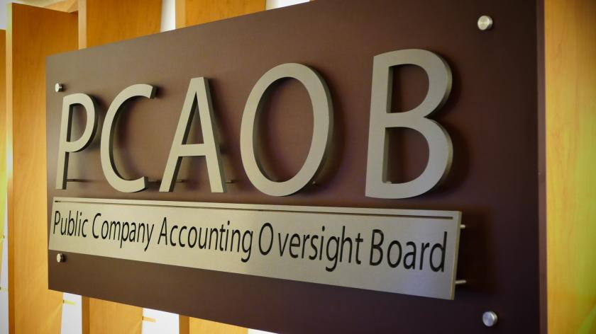 PCAOB sign