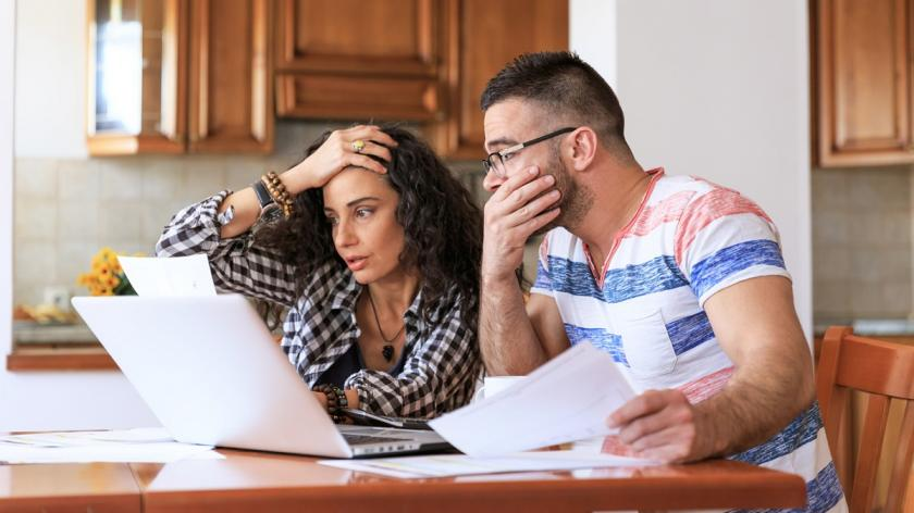 People stressed by taxes
