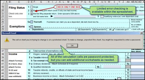 Use Excel to File 2015 Form 1040 and Related Schedules ...