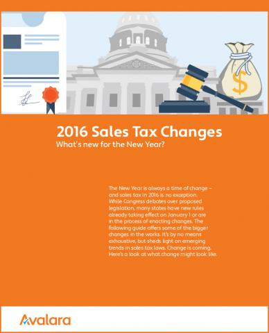 2016 Sales Tax Changes