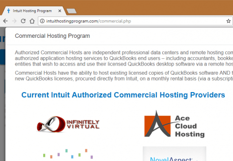 Visit Intuit HostingProgram.com to get more information on desktop QuickBooks hosting